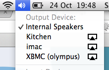 Easily choose Airplay in Mavericks