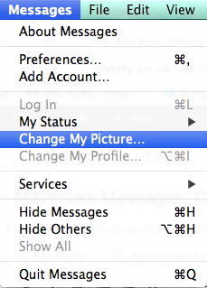 Mavericks Messages change picture