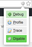 Xdebug helper in the address bar